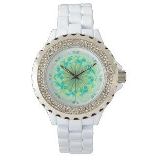 Open heart chakra mandala for you wristwatch