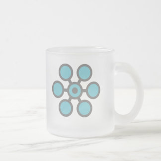 Open Heart (Floral) Frosted Glass Coffee Mug