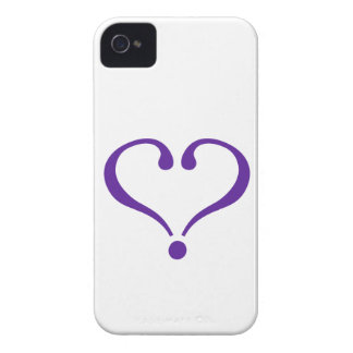 Open heart in purple for Valentine's Day love iPhone 4 Cover