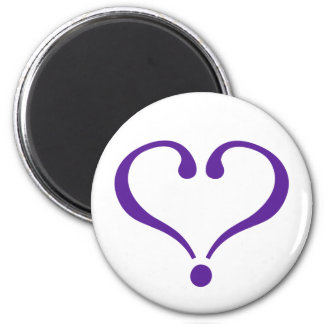 Open heart in purple for Valentine's Day love Refrigerator Magnet