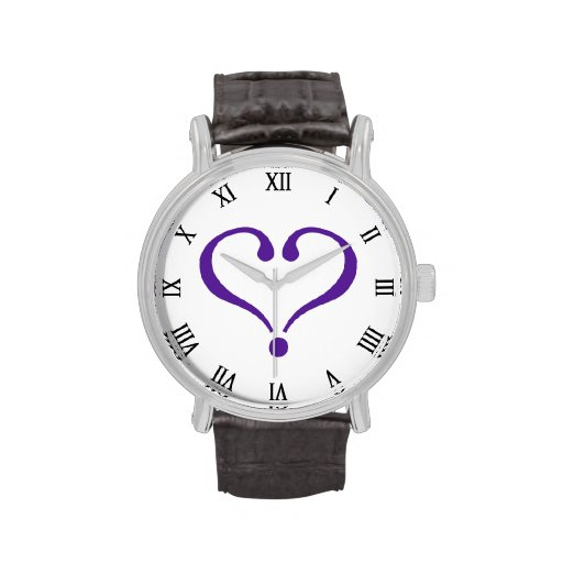 Open heart in purple for Valentine's Day love Relojes