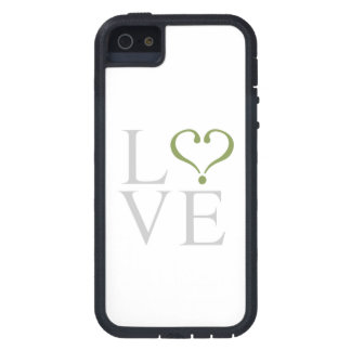 """Open heart """"LOVE"""" heart opened in gray and trims o iPhone 5 Covers"""