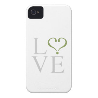 """Open heart """"LOVE"""" heart opened in gray and trims o Case-Mate iPhone 4 Case"""