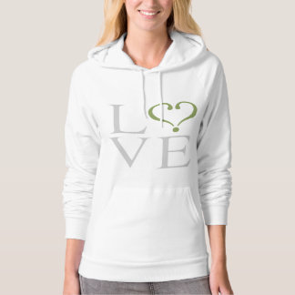 "Open heart ""LOVE"" heart opened in gray and trims o Hoodie"