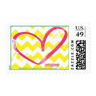Open Heart Magenta Postage Stamp