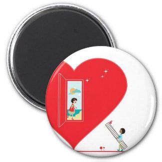 Open heart magnet
