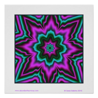 Open Heart Mandala Poster