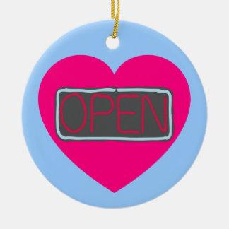 open heart ornament