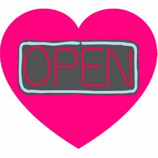 open heart photo sculpture