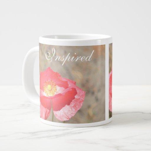 Open Heart Poppy Floral Inspired Jumbo Mug