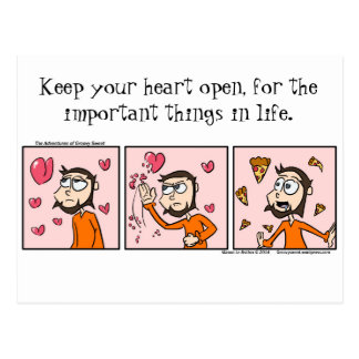 Open Heart Postcard