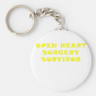 Open Heart Surgery Survivor Keychain