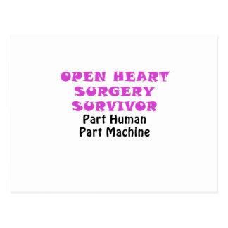 Open Heart Surgery Survivor Part Human Postcard