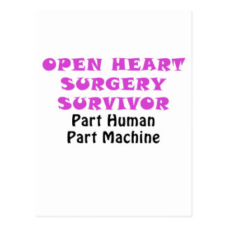 Open Heart Surgery Survivor Part Human Postcard