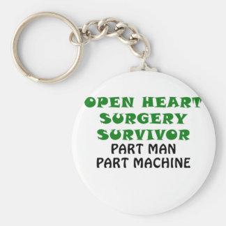 Open Heart Surgery Survivor Part Man Part Machine Keychain