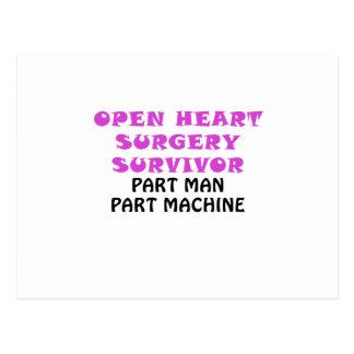 Open Heart Surgery Survivor Part Man Part Machine Postcard