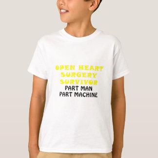 Open Heart Surgery Survivor Part Man Part Machine T-Shirt