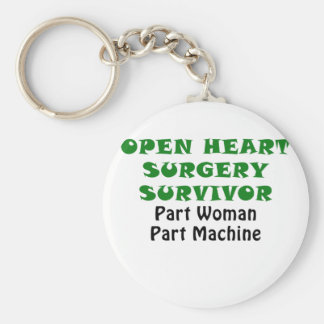Open Heart Surgery Survivor Part Woman Keychain