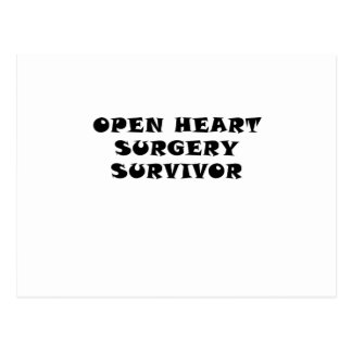 Open Heart Surgery Survivor Postcard