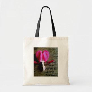 Open Heart Tote Canvas Bag