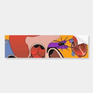 Open Hearted Car Bumper Sticker
