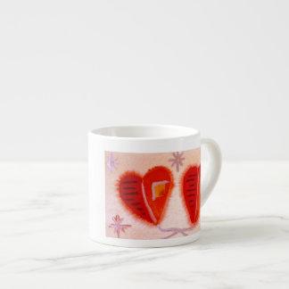 ...open hearts...art by Jutta Gabriel... Espresso Cup