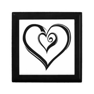 Open Hearts Design Jewelry Box