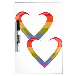 Open Hearts Dry Erase Board