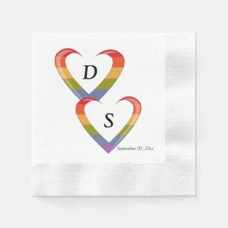 Open Hearts Paper Napkin