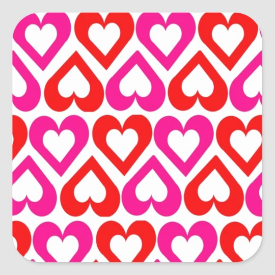 Open Hearts Square Sticker