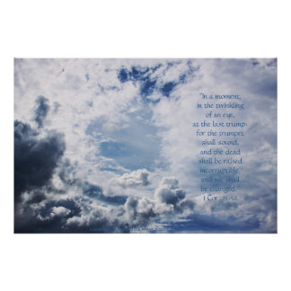 Open Heavens Print w/Scripture Verse