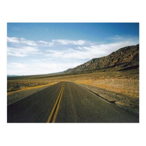 Open Highway- Death Valley Post Card