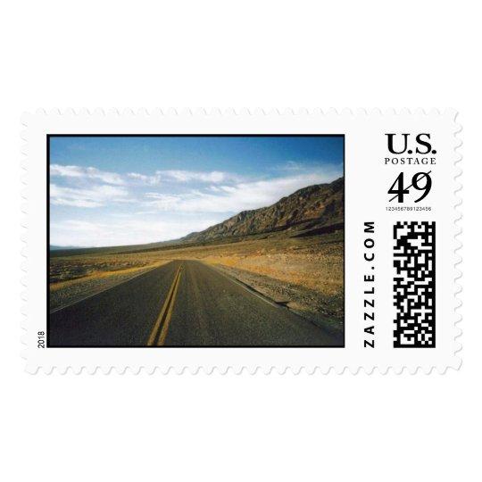 Open Highway- Death Valley Postage