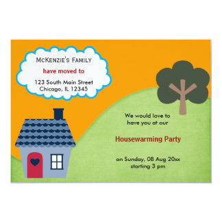 "Open House Announcement 5"" X 7"" Invitation Card"