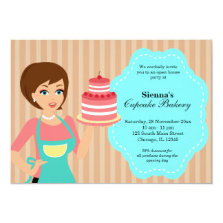 Open House Bakery business 5x7 Paper Invitation Card