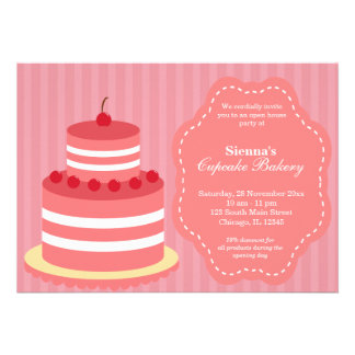 Open House Bakery business Invites