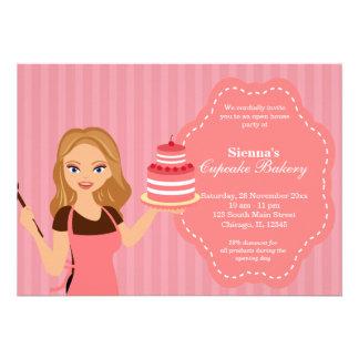 Open House Bakery business Custom Invitations