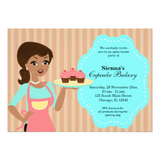 Open House Bakery business Personalized Announcement