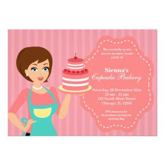 Open House Bakery business Custom Invite
