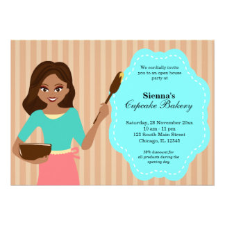 Open House Bakery business Personalized Announcements