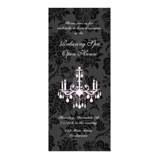 Open House Black Victorian Damask Card