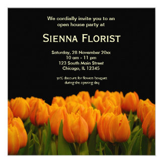 Open House Florist business Personalized Invitation