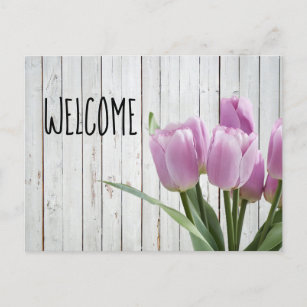 Open House Hostess Shower Welcome Sales Party Announcement Postcard