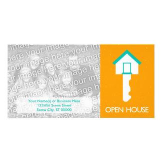 open house housekey personalized photo card