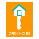 open house housekey postcard