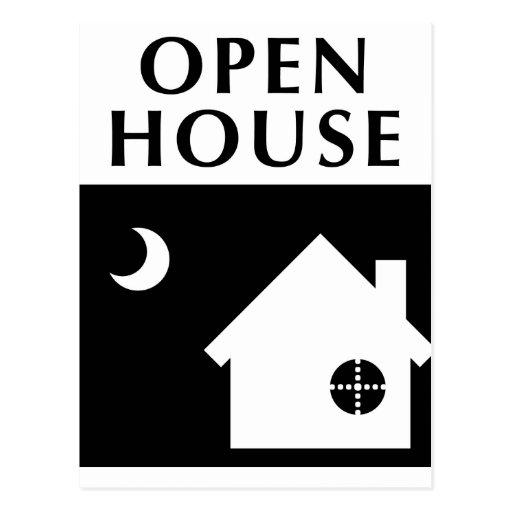 open house / housewarming : pop shapes postcard
