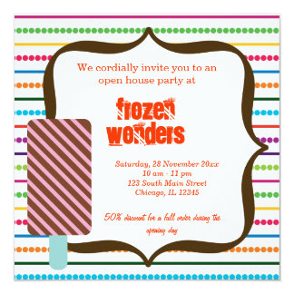 Open House Ice Cream salon Card