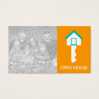 OPEN HOUSE indie house key Business Card