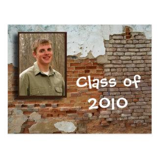 open house invitation - crumbling wall. postcard