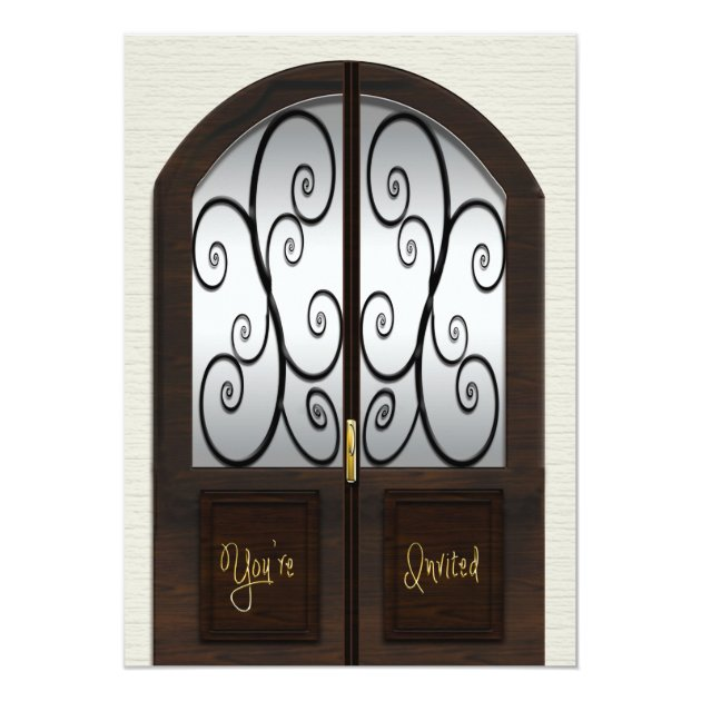 Open House Invitation   Fancy Double Pane Door | Zazzle.com